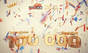 Background option for 100 000 fans celebration App on Facebook, Cinema 4d